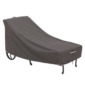 Maple Taupe One-Size Patio Chaise Cover
