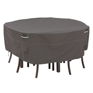 Patio Table and Chair Cover Round Taupe - Med