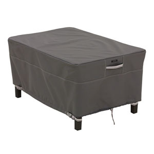 Maple Taupe Small Rectangle Ottoman/Side Table Cover
