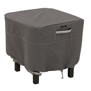 Maple Taupe Small Square Ottoman/Side Table Cover