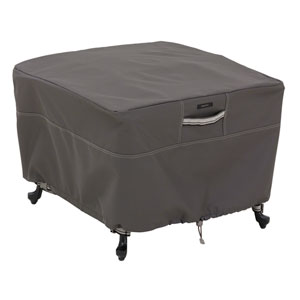 Maple Taupe Large Square Ottoman/Side Table Cover