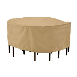 Palm Sand Medium Round Patio Table and Chair Set Cover