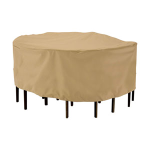 Palm Sand Large Round Patio Table and Chair Set Cover