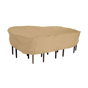 Palm Sand Medium Rectangular Patio Table and Chair Set Cover