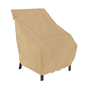 Palm Sand Patio High Back Chair Cover