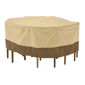 Veranda Earth Toned Tall Patio Table and Chair Set Cover, Round