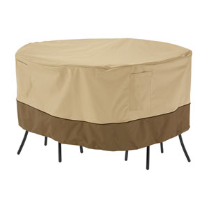 Veranda Earth Toned Round Patio Bistro Table and Chair Set Cover