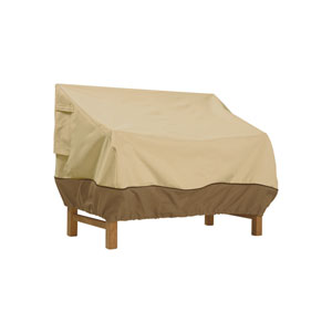 Ash Earth Toned Large Patio Loveseat Cover