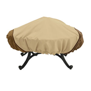 Ash Earth Toned 60 In. Round Fire Pit Chair Cover
