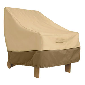 Ash Earth Toned Patio High Back Chair Cover