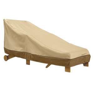 Ash Earth Toned Patio Chaise Cover