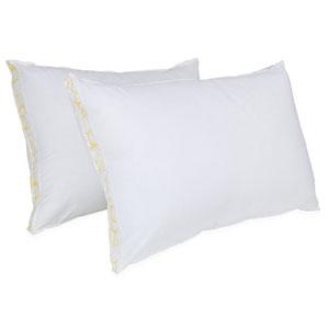 SensorLOFT Sleep Style White Medium Density Standard Pillow, Set of Two