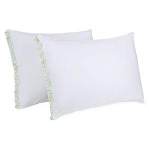 SensorLOFT Sleep Style White Firm Density Standard Pillow, Set of Two