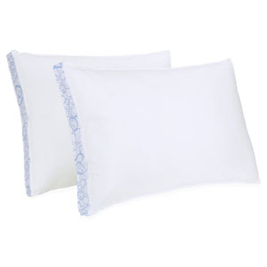 SensorLOFT Sleep Style White Extra Firm Density Standard Pillow, Set of Two