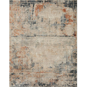Axel Stone, Blue and Spice 6 Ft. 7 In. x 9 Ft. 10 In. Area Rug