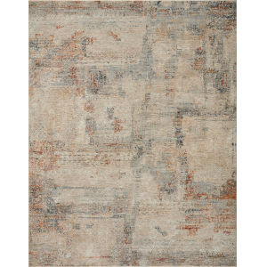 Axel Sand, Spice and Blue 2 Ft. 6 In. x 10 Ft. Area Rug