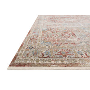 Claire Red and Ivory 5 Ft. 3 In. x 7 Ft. 9 In. Power Loomed Rug