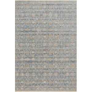 Claire Ocean and Gold 2 Ft. 7 In. x 9 Ft. 6 In. Power Loomed Rug