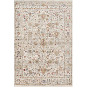 Claire Ivory and Multicolor 2 Ft. 7 In. x 8 Ft. Power Loomed Rug