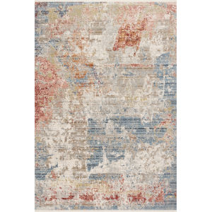 Claire Gray and Multicolor 5 Ft. 3 In. x 7 Ft. 9 In. Power Loomed Rug