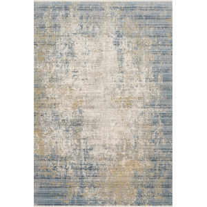 Claire Neutral and Sea 5 Ft. 3 In. x 7 Ft. 9 In. Power Loomed Rug