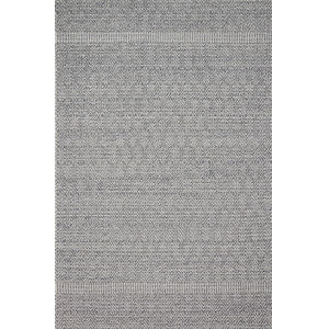 Cole Denim and Gray 6 Ft. 7 In. x 9 Ft. 4 In. Power Loomed Rug