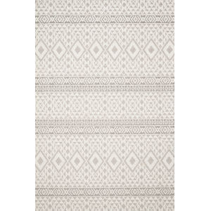 Cole Silver and Ivory 2 Ft. 7 In. x 10 Ft. Power Loomed Rug