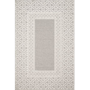 Cole Gray and Ivory 2 Ft. 7 In. x 12 Ft. Power Loomed Rug