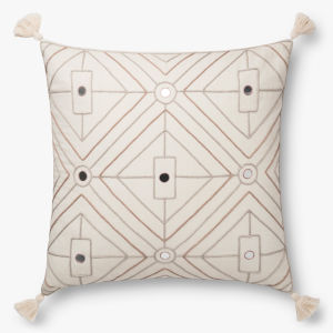 Natural 22 In. x 22 In. Throw Pillow Cover with Down
