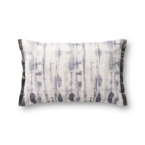 Gray 13 x 21 In. Pillow Cover with Down Insert