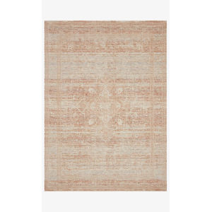 Faye Terracotta and Sky Rectangle: 5 Ft. 3 In. x 7 Ft. 9 In. Rug
