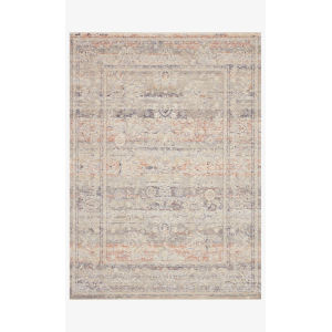 Faye Denim and Rust Rectangle: 9 Ft. 6 In. x 13 Ft. 1 In. Rug