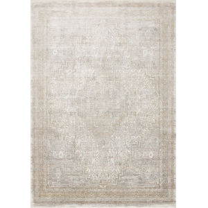 Gemma Sand and Ivory 2 Ft. 8 In. x 7 Ft. 9 In. Power Loomed Rug