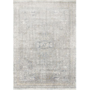 Gemma Silver and Multicolor 2 Ft. 8 In. x 7 Ft. 9 In. Power Loomed Rug