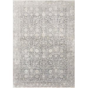 Gemma Charcoal and Sand 3 Ft. 7 In. x 5 Ft. Power Loomed Rug