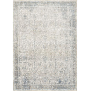 Gemma Sky and Ivory 3 Ft. 7 In. x 5 Ft. Power Loomed Rug