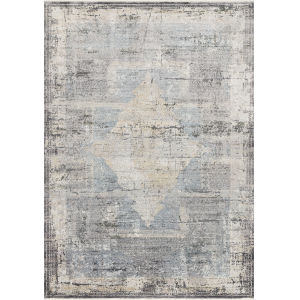 Gemma Charcoal and Multicolor 3 Ft. 7 In. x 5 Ft. Power Loomed Rug