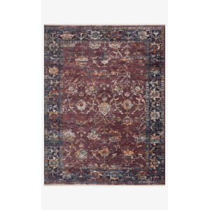 Giada Grape and Multicolor Rectangle: 2 Ft. 7 In. x 4 Ft. Rug