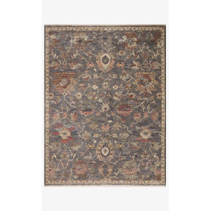 Giada Silver and Multicolor Round: 7 Ft. 9 In. x 7 Ft. 9 In.  Rug