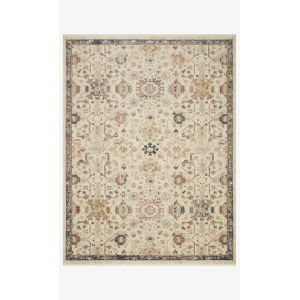 Giada Ivory and Multicolor Round: 5 Ft. x 5 Ft.  Rug