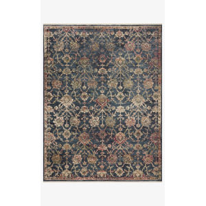 Giada Navy and Multicolor Rectangle: 3 Ft. 7 In. x 5 Ft. 7 In. Rug