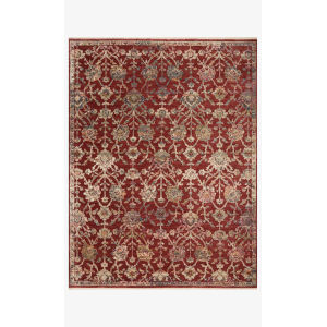 Giada Red and Multicolor Round: 3 Ft. 2 In. x 3 Ft. 2 In.  Rug