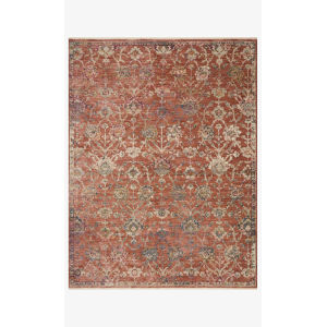 Giada Terracotta and Multicolor Round: 5 Ft. x 5 Ft.  Rug