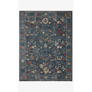 Giada Denim and Multicolor Round: 5 Ft. x 5 Ft.  Rug