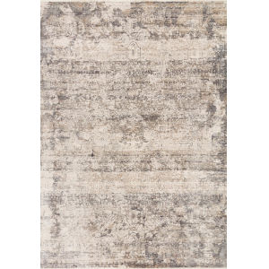 Homage Graphite Beige Rectangular: 3 Ft. 9 In. x 5 Ft. 9 In. Rug