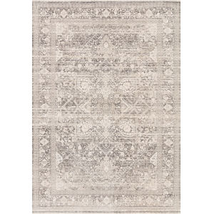 Homage Ivory Gray Rectangular: 2 Ft. 6 In. x 12 Ft. Rug