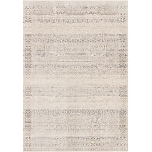 Homage Ivory Silver Rectangular: 5 Ft. 3 In. x 7 Ft. 6 In. Rug