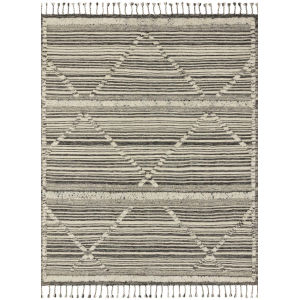 Iman Ivory Charcoal Square: 1 Ft. 6 In. x 1 Ft. 6 In. Rug