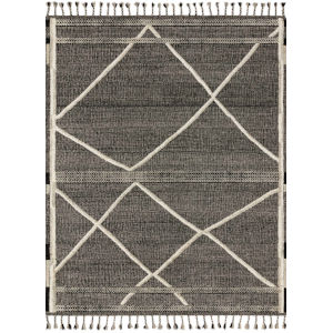 Iman Beige Charcoal Rectangular: 2 Ft. x 3 Ft. Rug