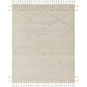 Iman Ivory Lt. Gray Rectangular: 8 Ft. 6 In. x 11 Ft. 6 In. Rug
